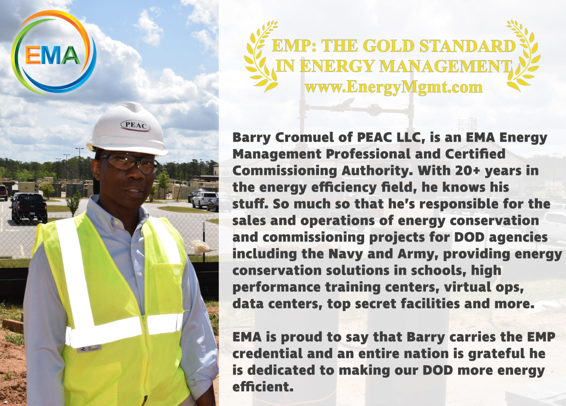 Barry Cromuel is an Energy Management Professional (EMP)